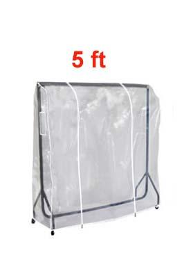 Clear PVC Garment Rail Cover 5 FT