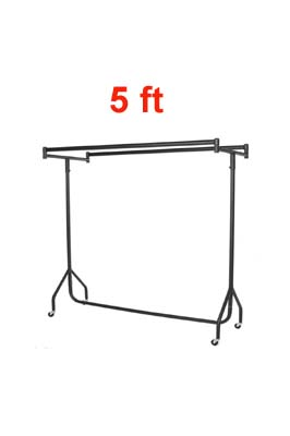 Heavy Duty Double Top Garment Rail 5 FT