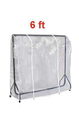 Clear PVC Garment Rail Cover