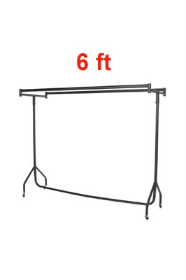 Heavy Duty Double Top Garment Rail 6 FT