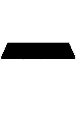 Slatwall Wooden Shelf Black 1200 X 300