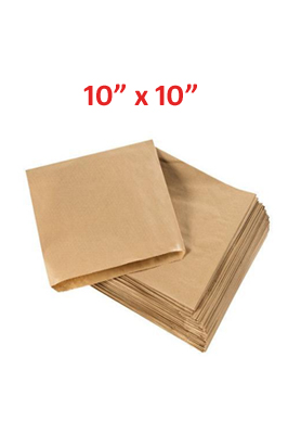"Brown Kraft Paper Food Bags pack of 1000 10"" x 10"""