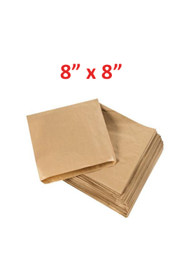 "Brown Kraft Paper Bags pack of 1000  8"" x 8"""