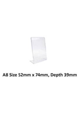 A8 Acrylic Poster Menu Holder Leaflet Display Stands