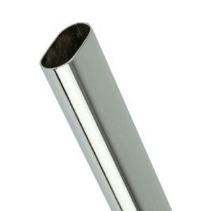 Oval Tube – Chrome – 2000mm