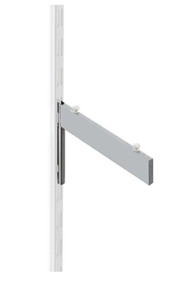 Twin slot upright Glass Shelf Bracket – 250mm