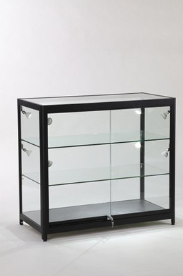 GLASS ALUMINIUM  SHOWCASE COUNTER  BLACK