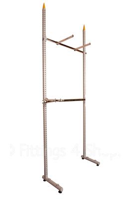L Legs  & Round Twin Slot Columns