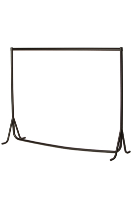 Heavy Duty Fishtail Garment Rail – Black with Chrome Top Rail-4ft
