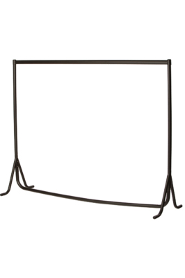 Heavy Duty Fishtail Garment Rail – Black-4ft