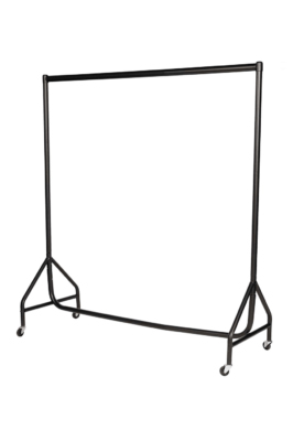 Reinforced Garment Rail – Black with Chrome Top Rail-4ft