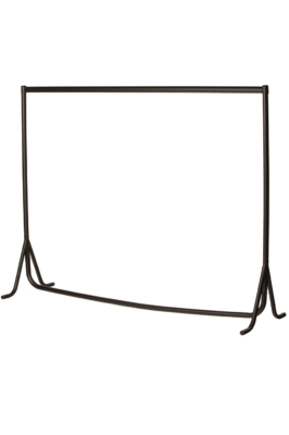 Heavy Duty Fishtail Garment Rail – Black-5ft