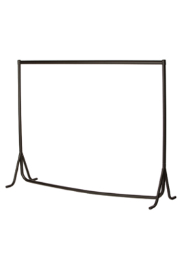 Heavy Duty Fishtail Garment Rail – Black with Chrome Top Rail-6ft