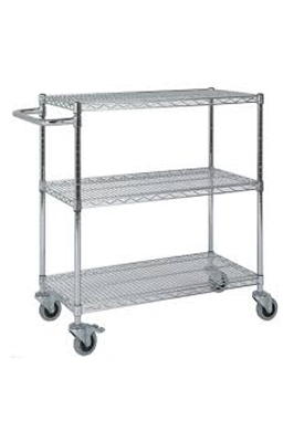Chrome Wire Catering Trolley