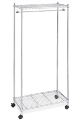 Chrome Wire Garment Trolley